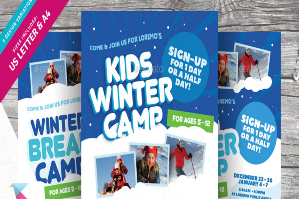 Winter Camp Flyer Template