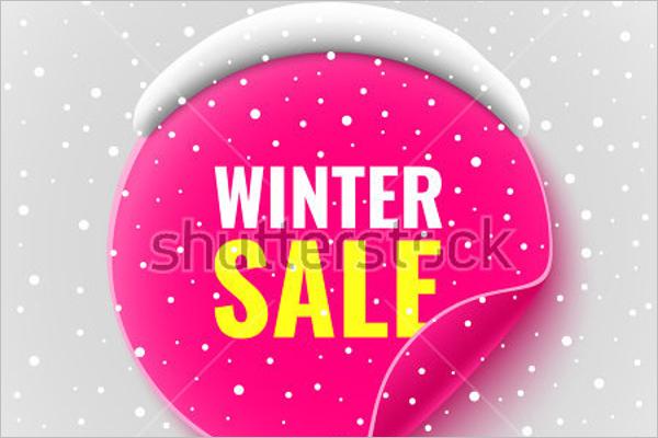 Winter Sale Poster Design