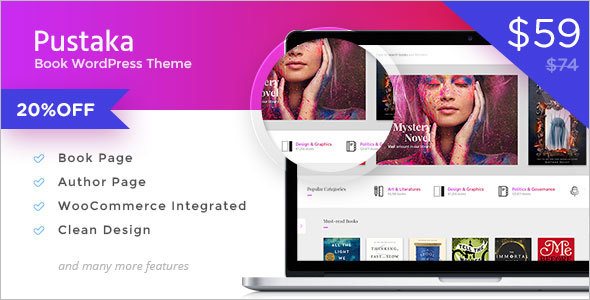 WooCommerce Book Store Template