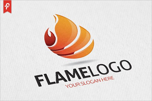 flame abstract 3d logo