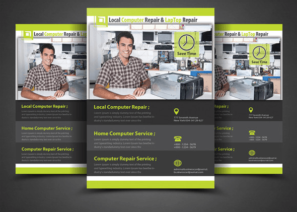 15 Computer Repair Flyer Templates Free Psd Pdf Word Designs