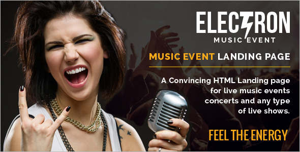 jQuery Event Landing Page Effect