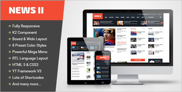 news Editorial Responsive Joomla