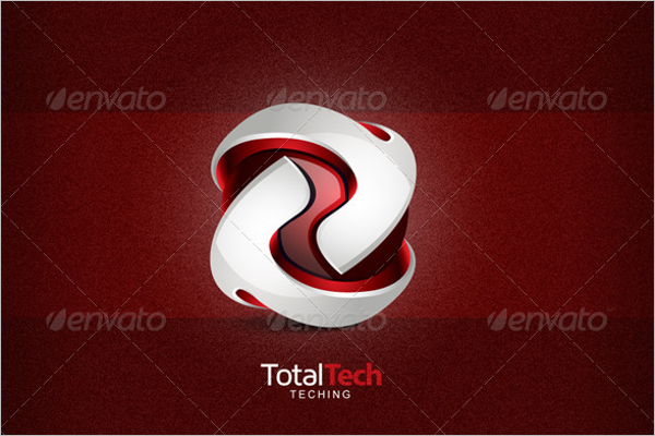Total Tech Abstract 3d Logo