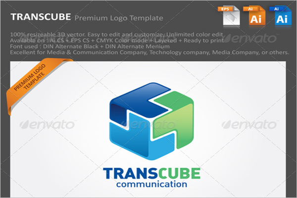 transcube-abstract-3d-logo
