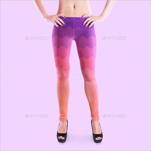 3D Legging Mockup Template