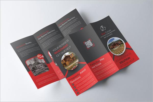 A4 Real Estate Brochure Design
