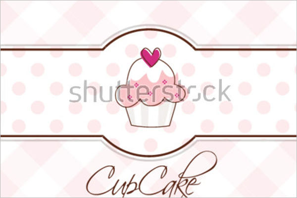 Abstract Cupcake Postcard Template