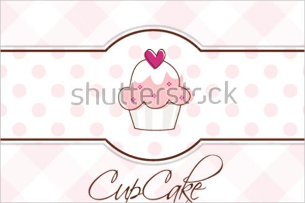 Abstract Cupcake Postcard Template