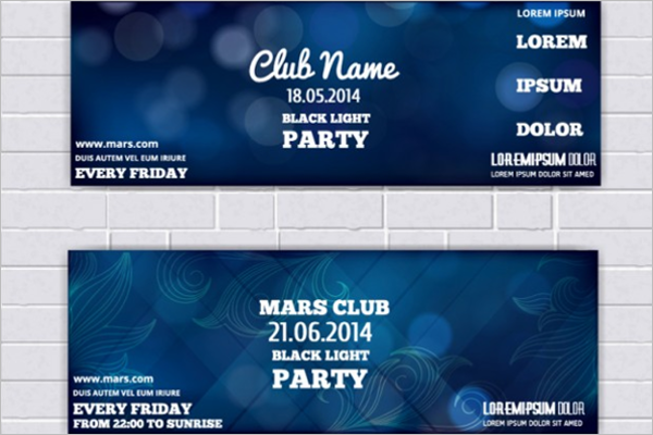 Abstract Event Ticket Template
