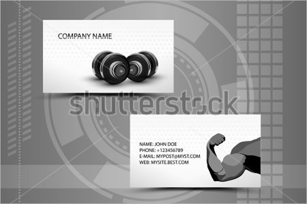 Abstract Gym Business Card