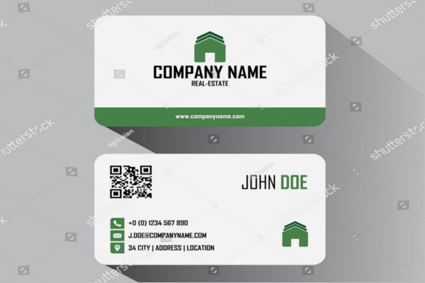 Abstract Real Estate Business Card Template