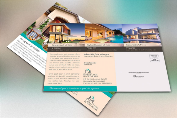 Abstract Real Estate Postcard Template