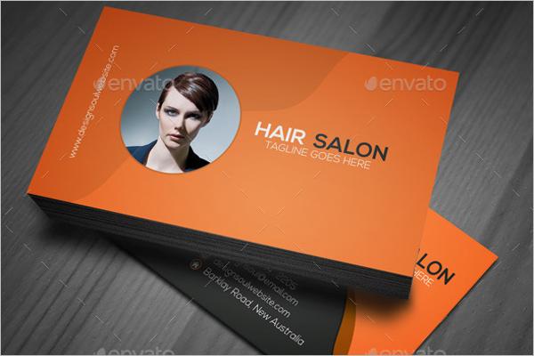 Advertisement Salon Business Card Template