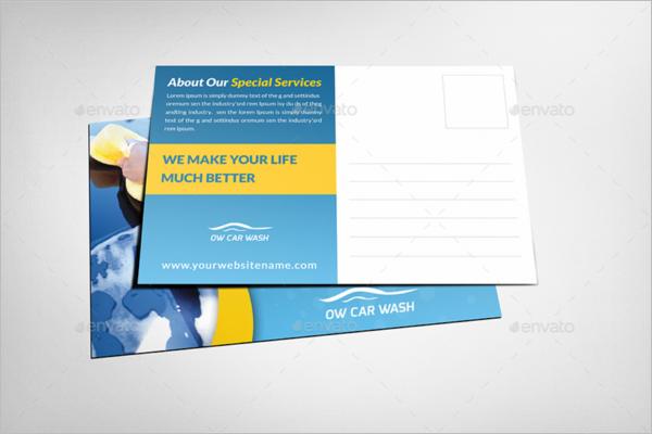 Advertising Automobile postcard template