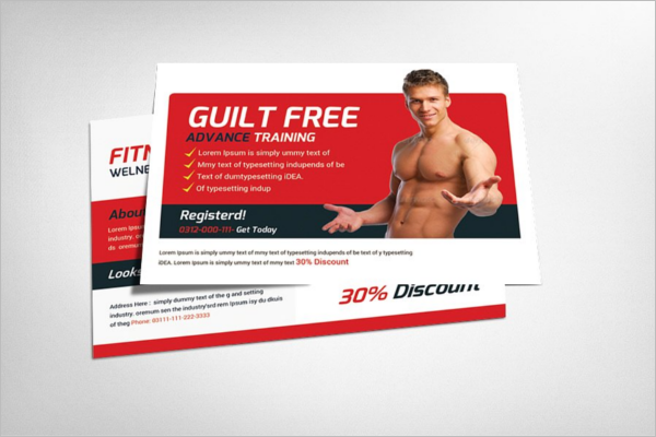 Advisement Fitness Postcard Template
