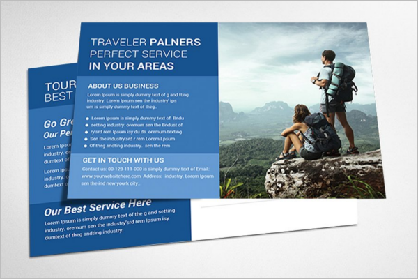 Advisement Travel Postcard Template