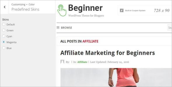 Affiliate Marketing Company WordPress Theme