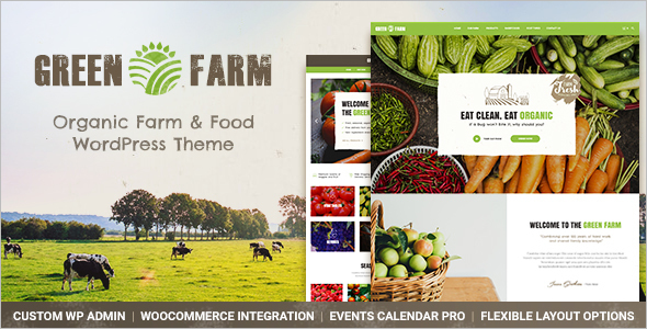 Agriculture Food Store WordPress Theme