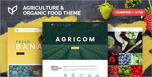 Agriculture Organic Food WordPress Theme