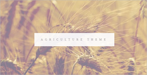 Agriculture Vintage WordPress Theme