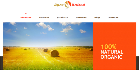 Agriculture WordPress Design Theme