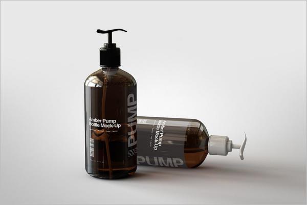 Amber Pump Bottle MockUp
