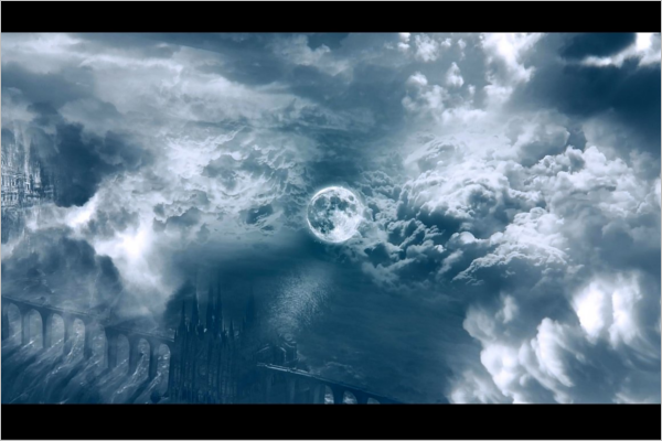 Animated Clouds Photo Frame