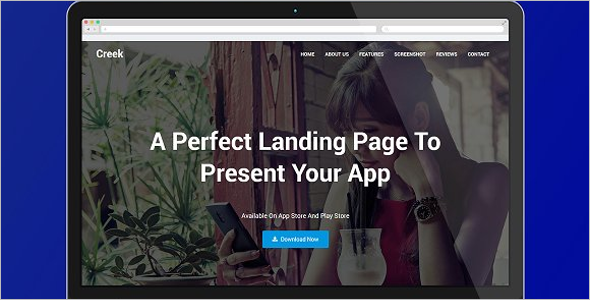 Animated HTML5 Landing Page Template