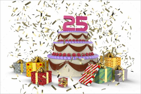 Anniversary Gift Box Mockup Template