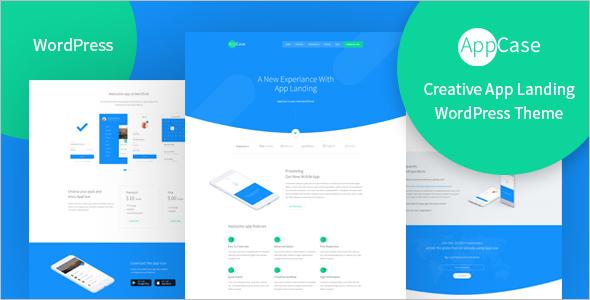 App Landing Page WordPress Template