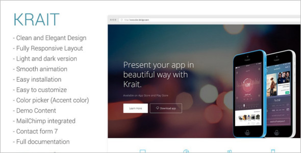 App landing Page WordPress Template
