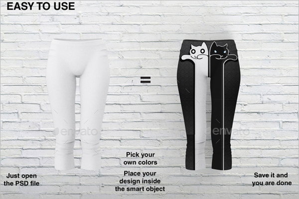 Apparel Legging Mockup Design