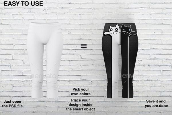 Apparel Legging Mockup Design