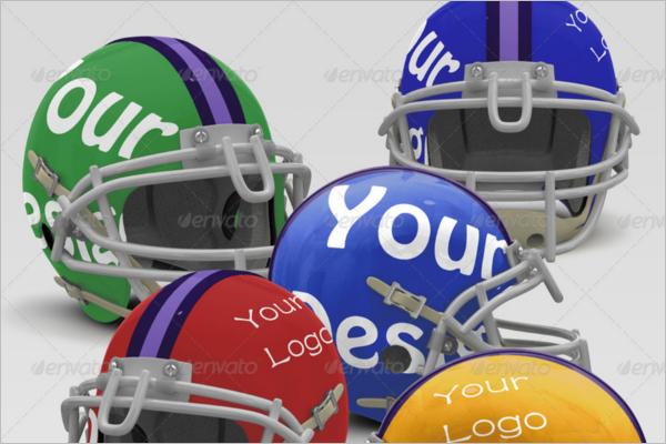 Apperal Football Helmet Mockup