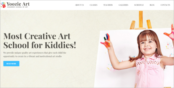 Art School WordPress Template
