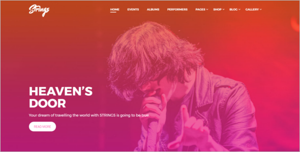 Artist & Event WordPress Theme