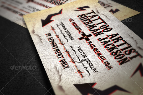 Artistic Graphic Business Card PSD Template