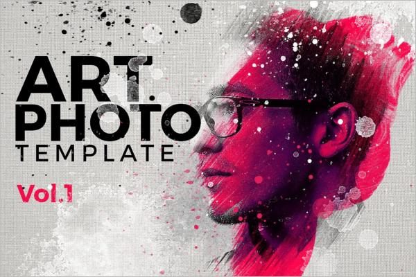 Artistic Oil Paint PhotoShop Template