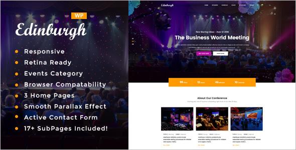AttractiveEvent WordPress Theme