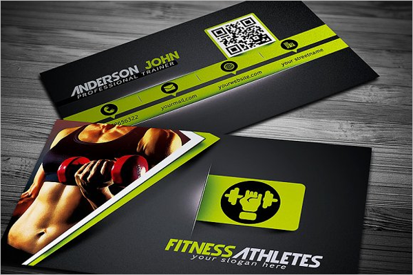 Attractive Gym Business Card Template