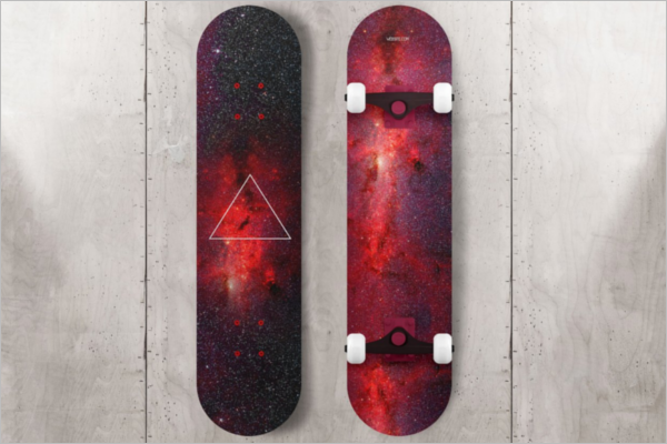 Attractive Skateboard Mockup Template