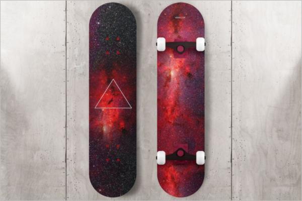 AttractiveSkateboard Mockup Template