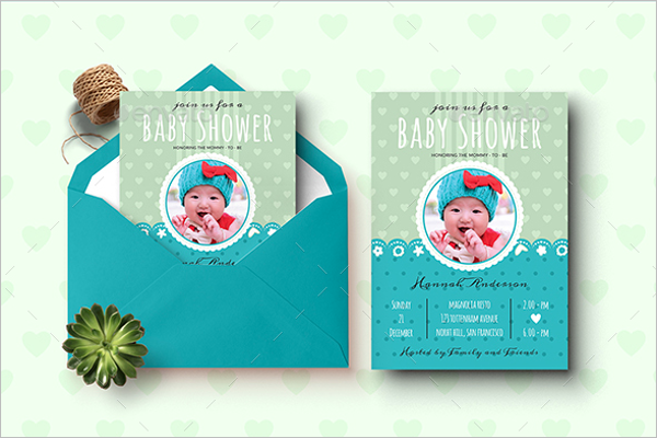 Baby Shower Envelope Design