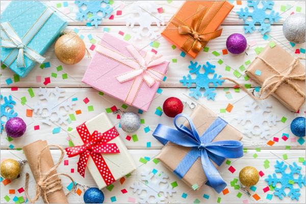 Background Gift Box Mockup Design