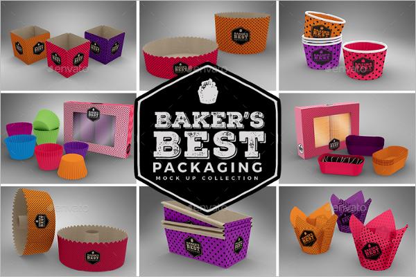 Baker's Paper Gift Box MockUp Design