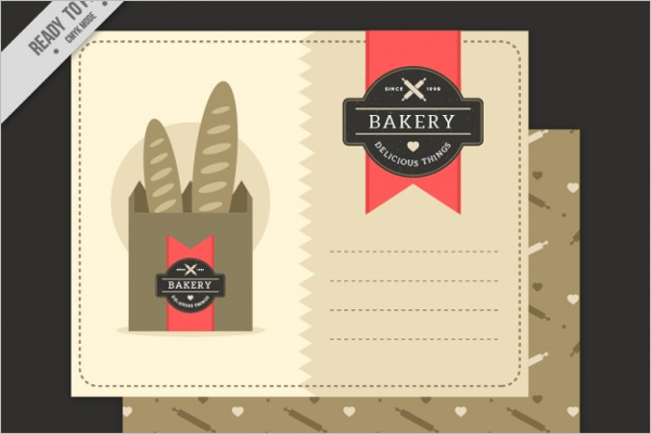 Bakery Postcard Vector Template
