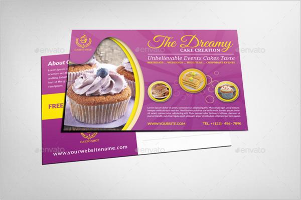 Bakery Shop Postcard Template