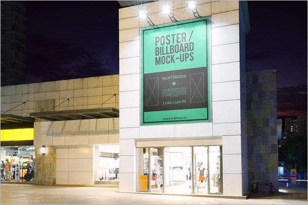 Banner Billboard Mockup PSD