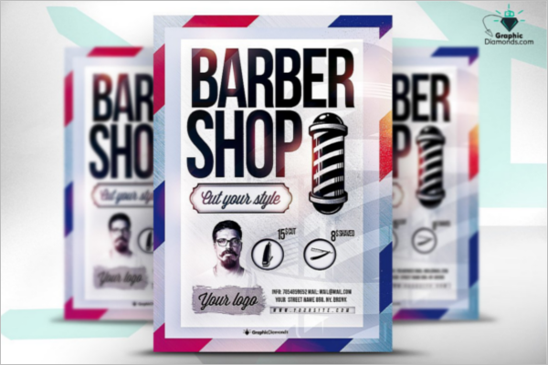 Barber Shop Flyer Template PSD